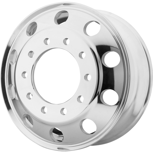 brand atx otr series and model baja wheel in a finish of polished - front with a model number of ao400