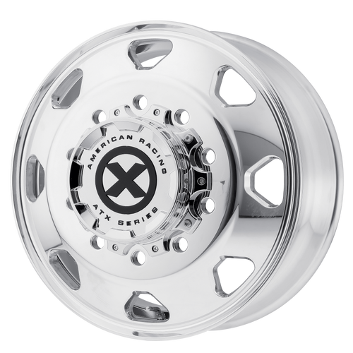 brand atx otr series and model octane wheel in a finish of polished - front with a model number of ao401