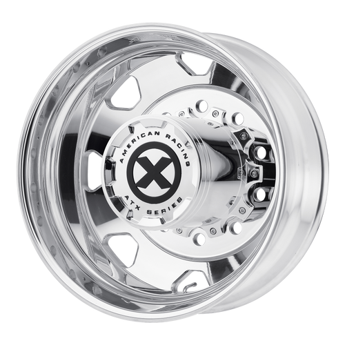 brand atx otr series and model octane wheel in a finish of polished - rear with a model number of ao401