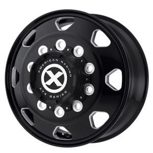 brand atx otr series and model octane wheel in a finish of satin black milled - front with a model number of ao401