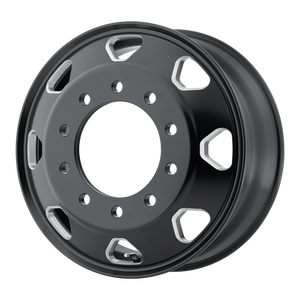 brand atx otr series and model octane wheel in a finish of satin black milled - inner with a model number of ao401