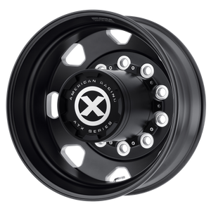 brand atx otr series and model octane wheel in a finish of satin black milled - rear with a model number of ao401