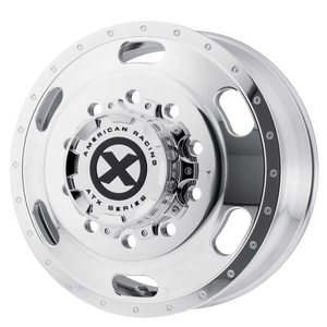 brand atx otr series and model indy wheel in a finish of polished - front with a model number of ao402