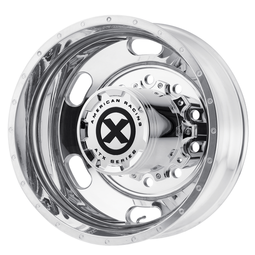 brand atx otr series and model indy wheel in a finish of polished - rear with a model number of ao402