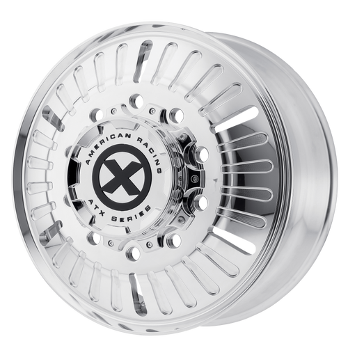 brand atx otr series and model roulette wheel in a finish of polished - front with a model number of ao403