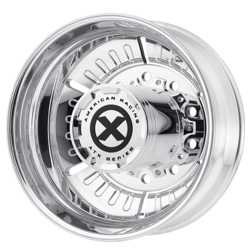 brand atx otr series and model roulette wheel in a finish of polished - rear with a model number of ao403