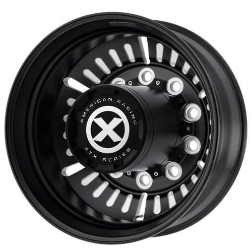 brand atx otr series and model roulette wheel in a finish of satin black milled - rear with a model number of ao403