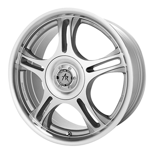 brand american racing and model ar95t wheel in a finish of machined with clearcoat with a model number of ar195