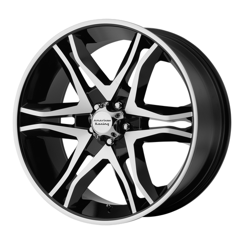 brand american racing and model mainline wheel in a finish of gloss black machined with a model number of ar893