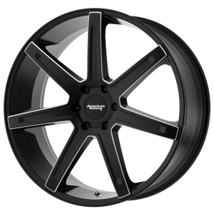 brand american racing and model revert wheel in a finish of satin black milled with a model number of ar938