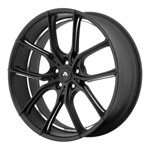 brand adventus and model avx-6 wheel in a finish of matte black milled with a model number of av106