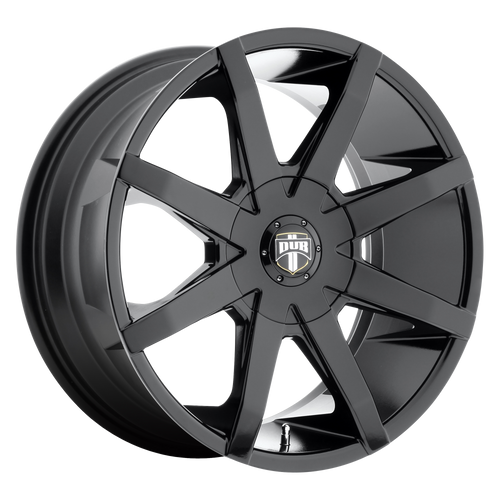 brand dub 1pc and model push wheel in a finish of gloss black with a model number of dc110