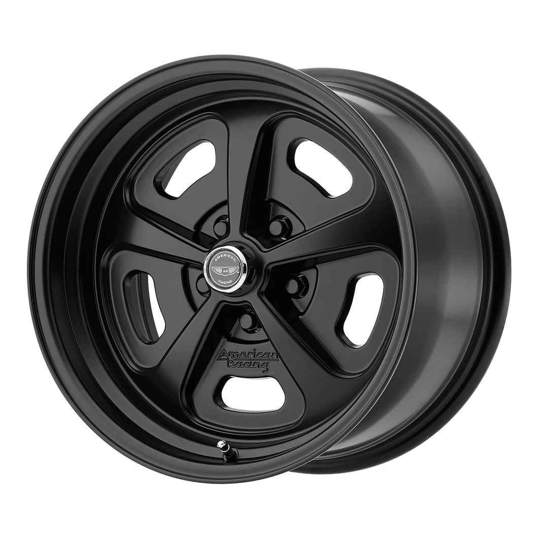 brand american racing and model 500 mono cast wheel in a finish of satin black with a model number of vn501