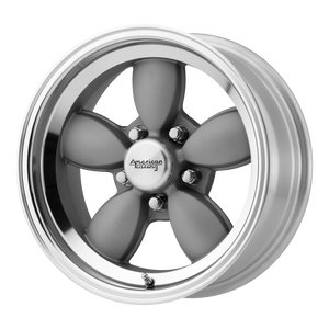 brand american racing and model vn504 wheel in a finish of mag gray center with mirror lip with a model number of vn504
