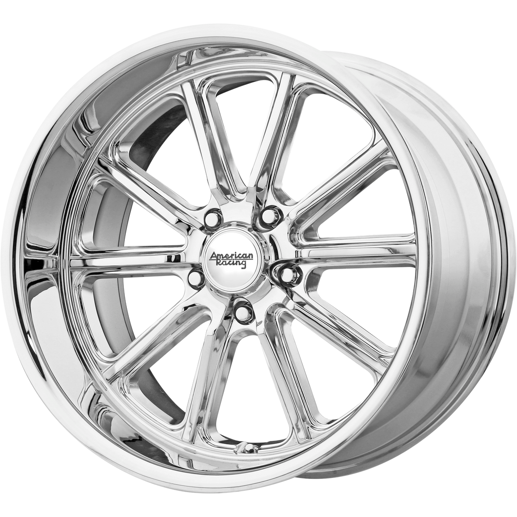 brand american racing and model rodder wheel in a finish of chrome with a model number of vn507