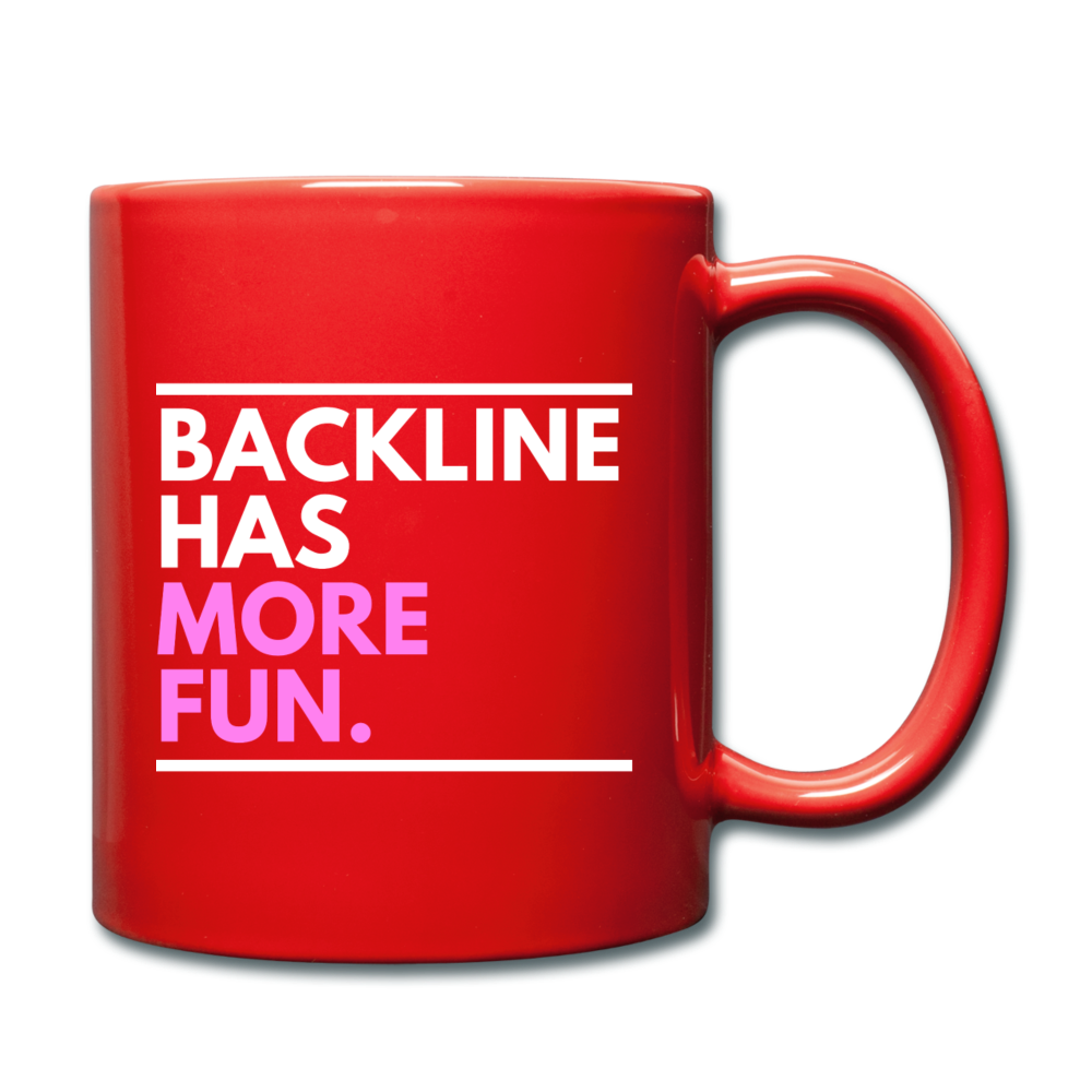 Backline Lefty Mug - red