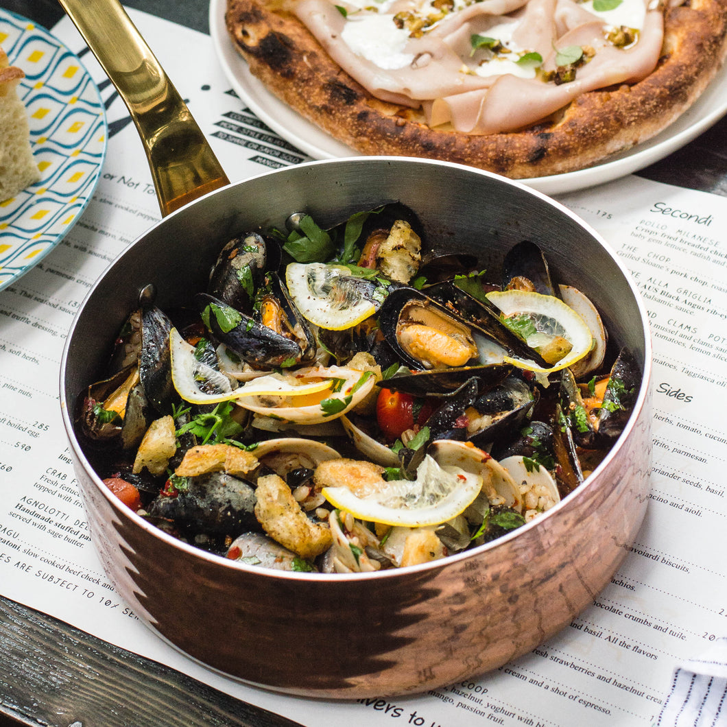 Mussels and clams pot
