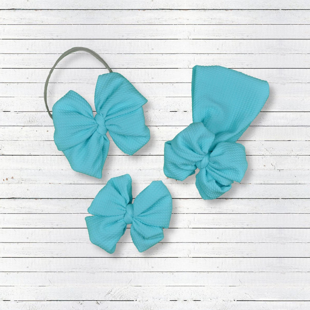 Baby Blue Hair Bow