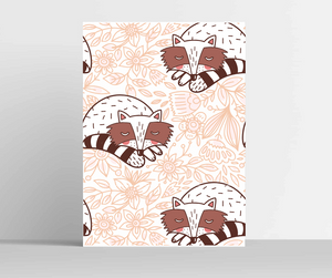 Cute Raccoons Wall Art
