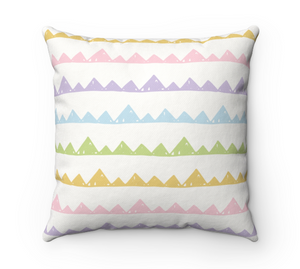Modern Pyramids Chevron Pattern Pillow