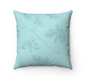 Aquamarine Floral Home Pillow