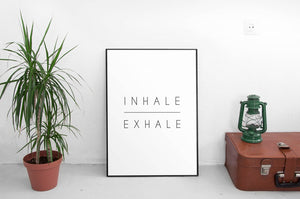 Inhale Exhale Wall Art Framed