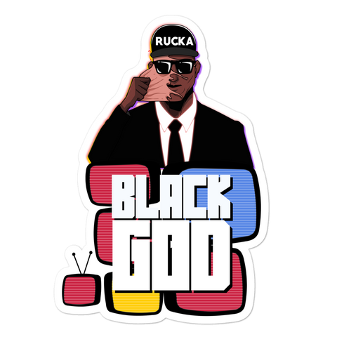 Black God - Sticker - ruckas-world