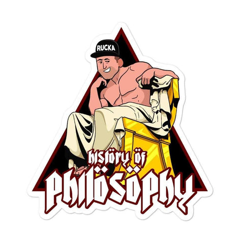 History of Philosophy - Supreme Sticker - ruckas-world