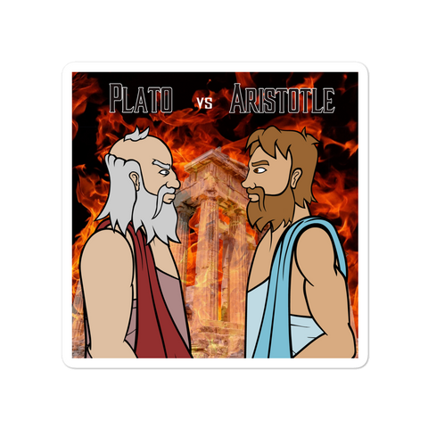 Plato vs Aristotle - Sticker