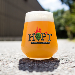 THE PROPER HOPPER: Official HOP'T Beer Glass (16oz Premium Toughened Glass)