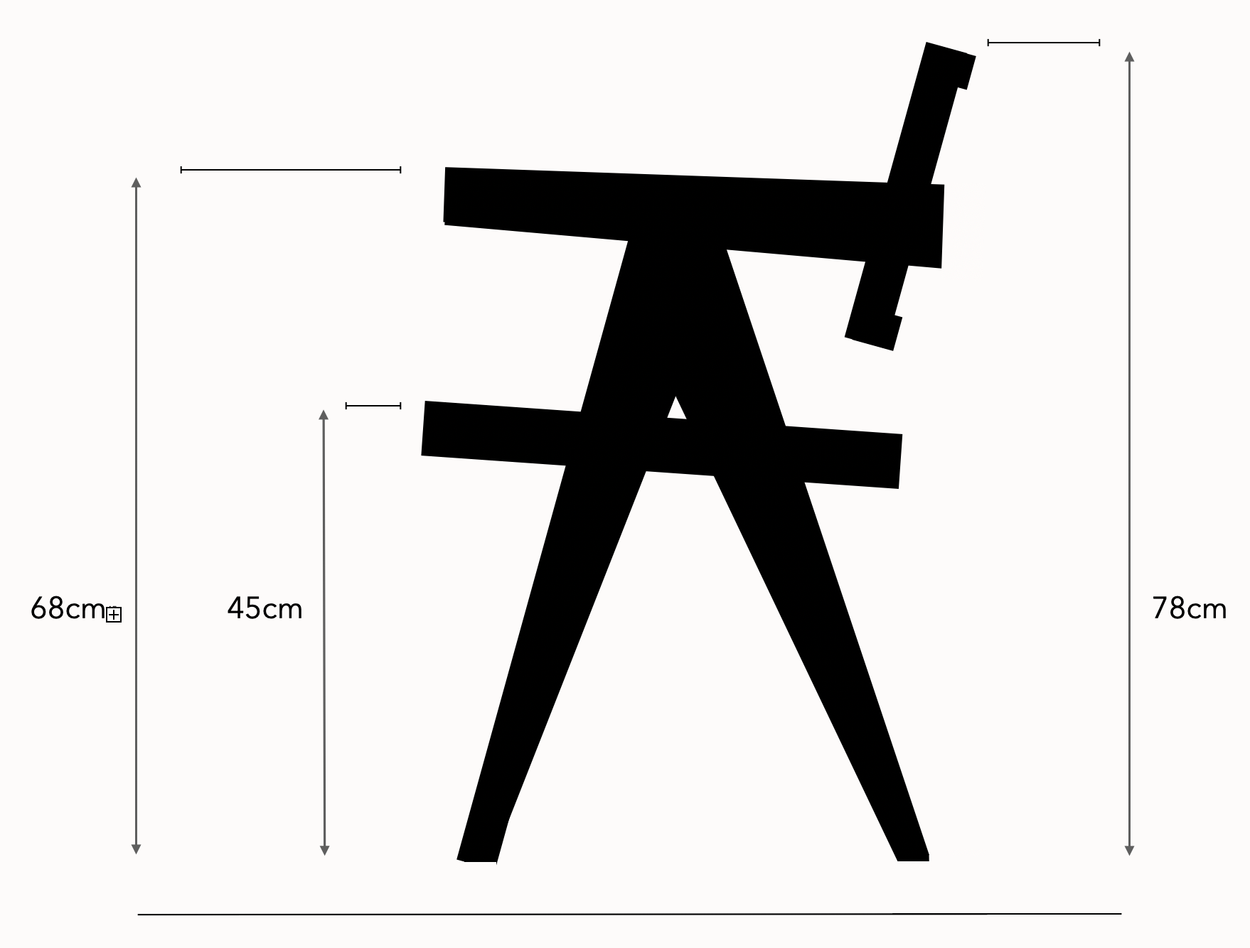 Pierre Jeanneret chair sizing