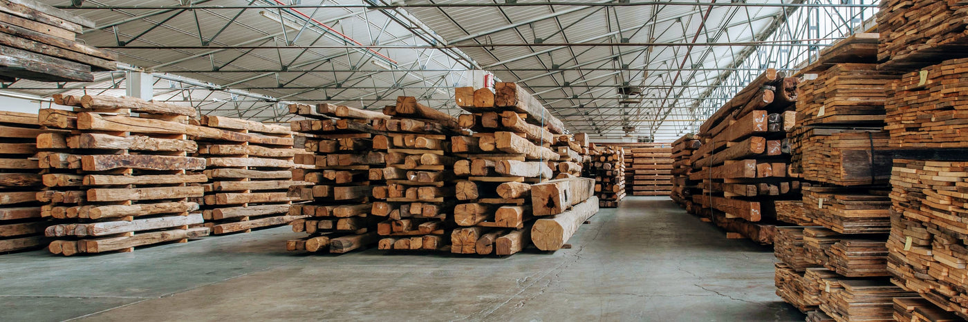 teak wood logs piled in wood warehouse Object Embassy