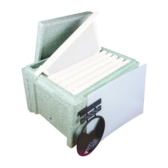 B.S. National Polystyrene 6 Frame Nuc with feeder compartment - Bee Equipment
