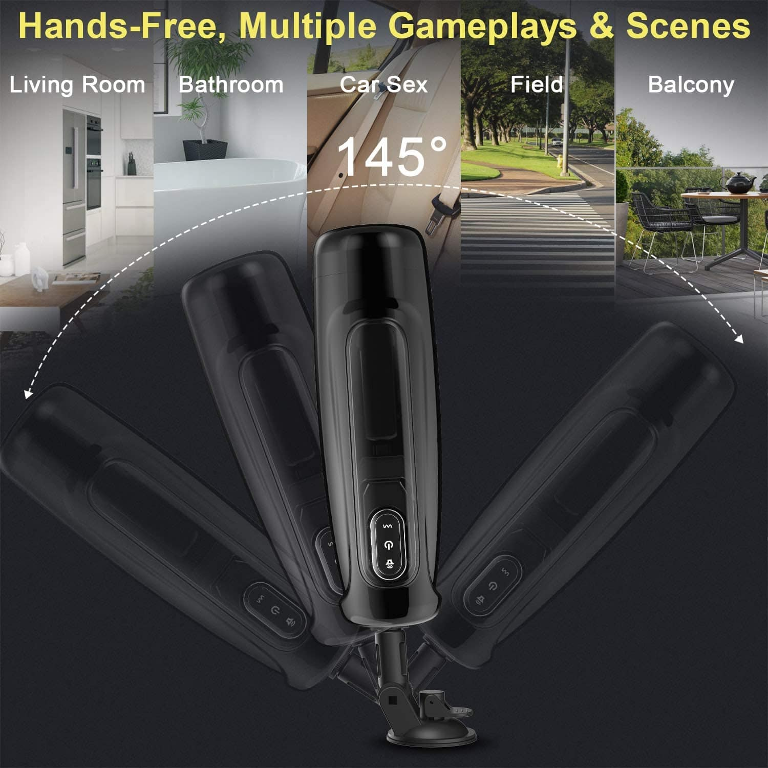 Male Masturbator-10 Rotating,Trusting Models,3 Moans Interaction 3 in 1 Adjustable Hands-Free Automatic Men Masturbation Cup Stroker