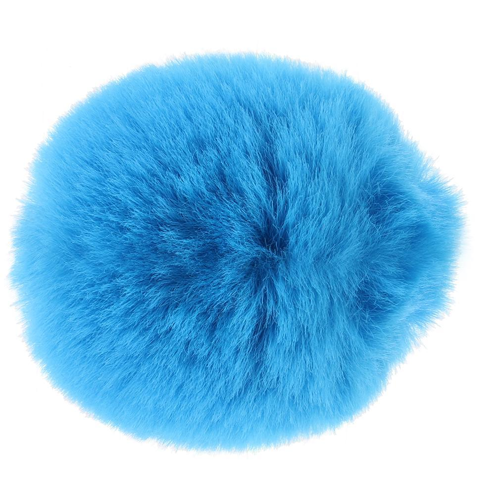 Bunny Tail Beginner Silicone Butt Plug in Blue
