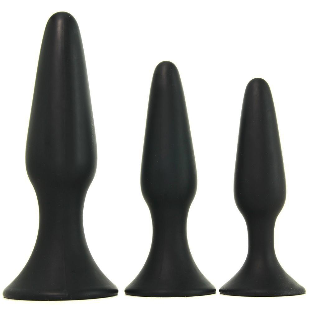 PinkCherry Silicone Anal Trainer Kit in Black