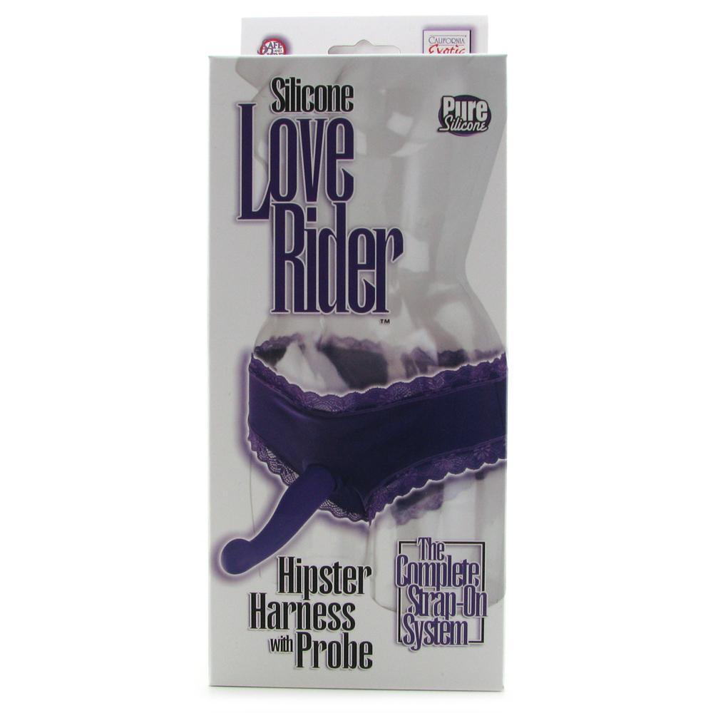 Love Rider Hipster Harness with Silicone Probe in Purple