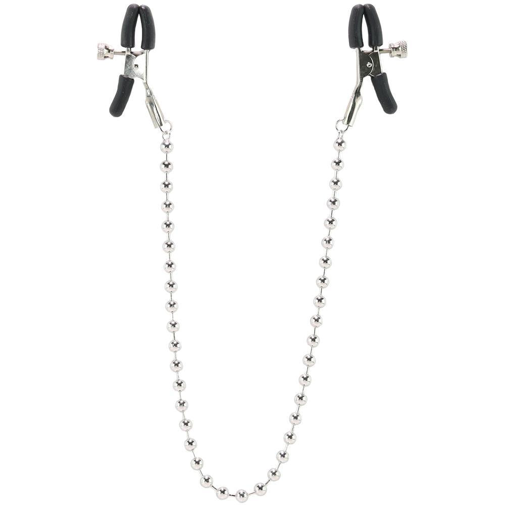 Beaded Nipple Clamps in Silver