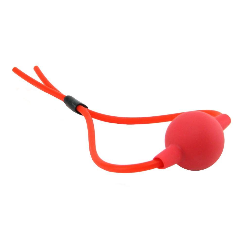 Silicone Ball Gag in Red