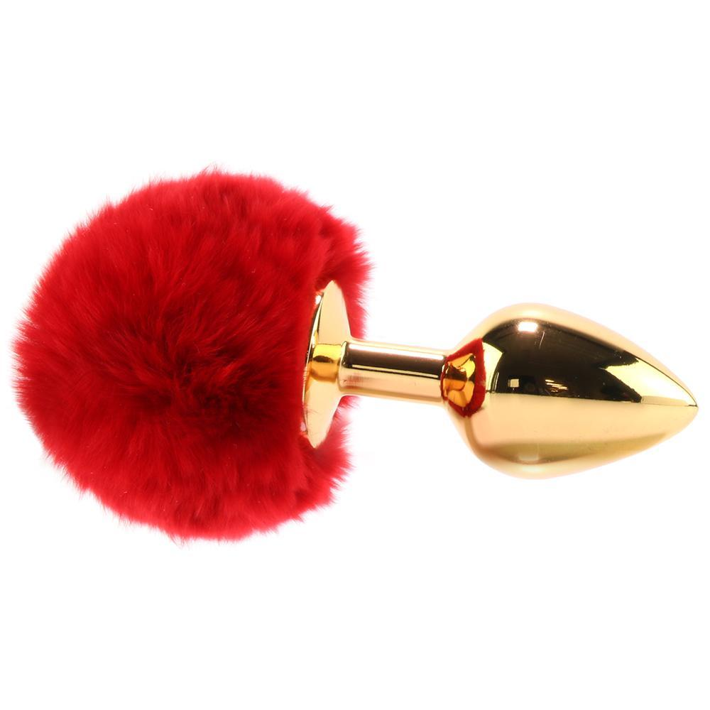Flora Medium Red Pom Pom Plug in Gold