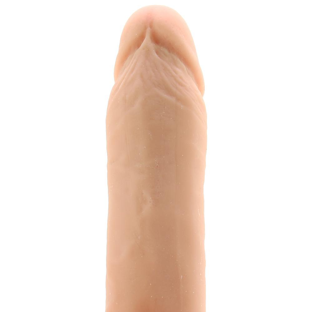 "PinkCherry 7"" Lifelike Vibrating Ballsy Dildo in Vanilla"