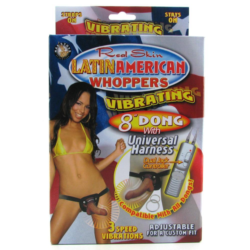 Latin American Whoppers 8 Inch Vibe with Harness