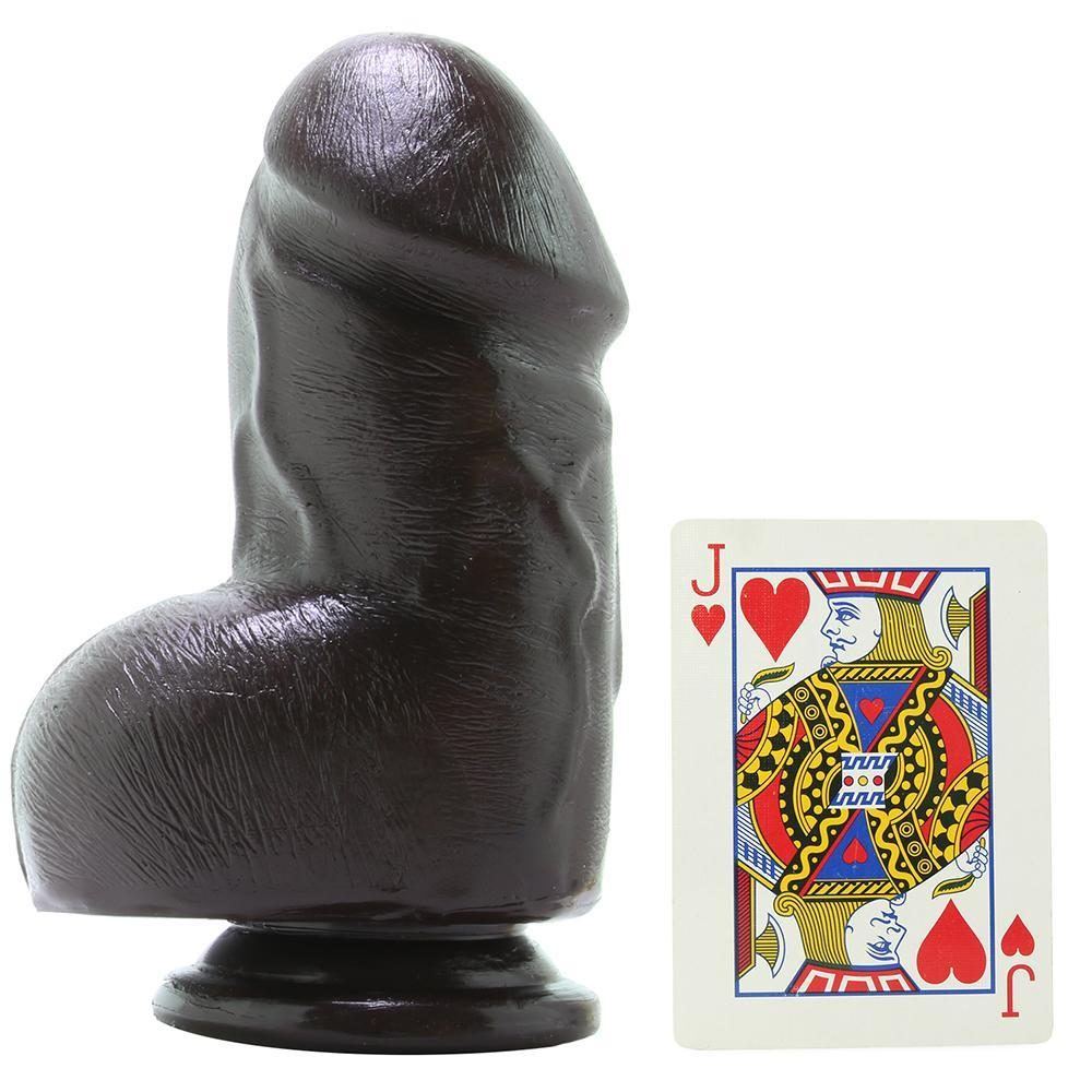 "The Fat D 6"" FIRMSKYN Dildo with Balls in Chocolate"