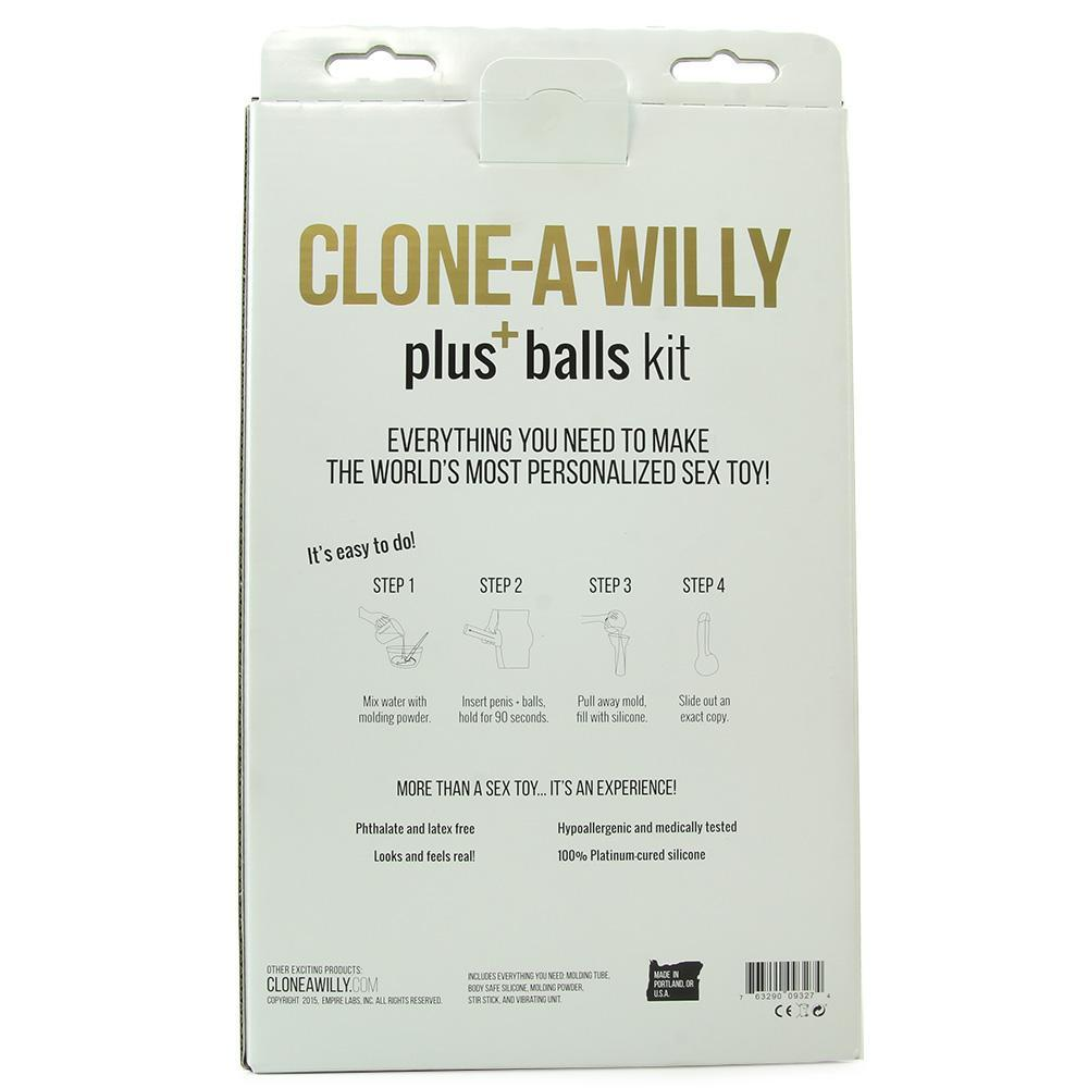 Clone-A-Willy & Balls Vibe Kit in Light Skin Tone
