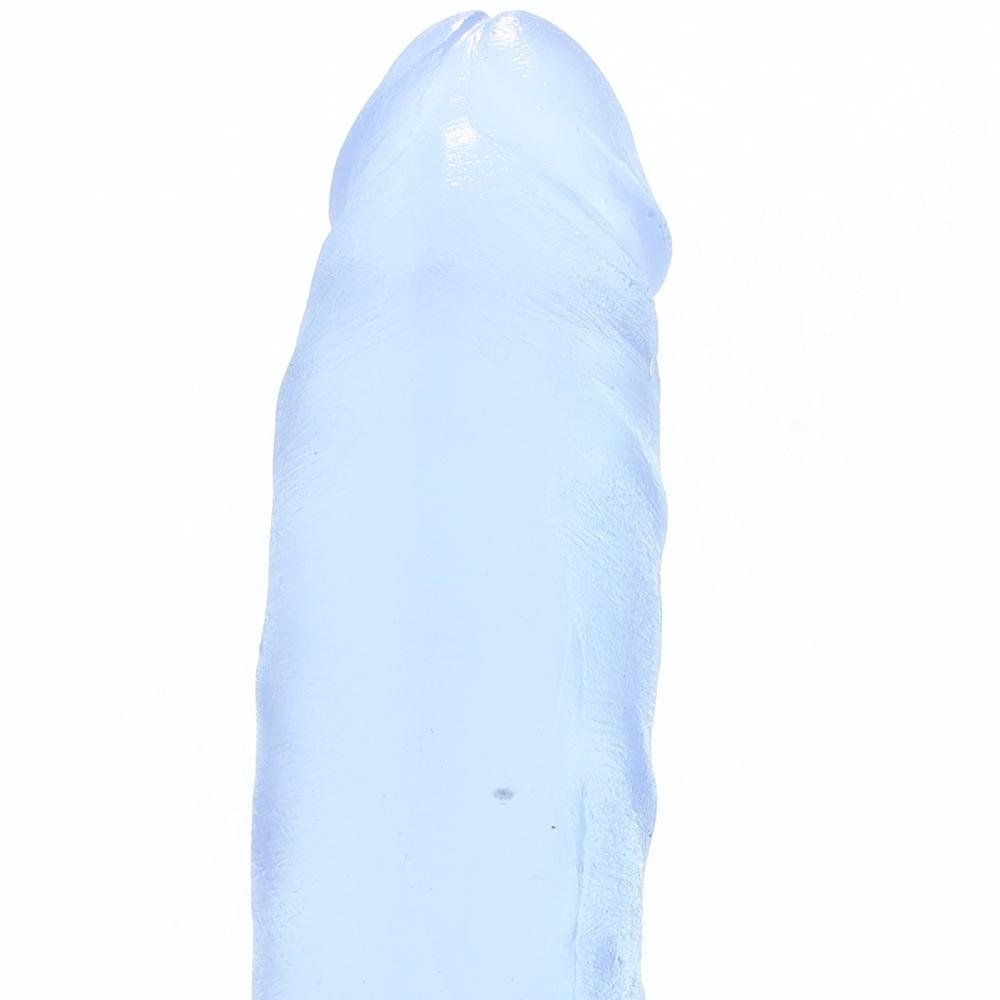 "Crystal Jellies 7"" Thin Ballsy Cock in Clear"