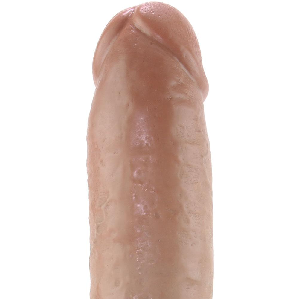 "King Cock 10"" Vibrating Suction Cup Dildo in Tan"