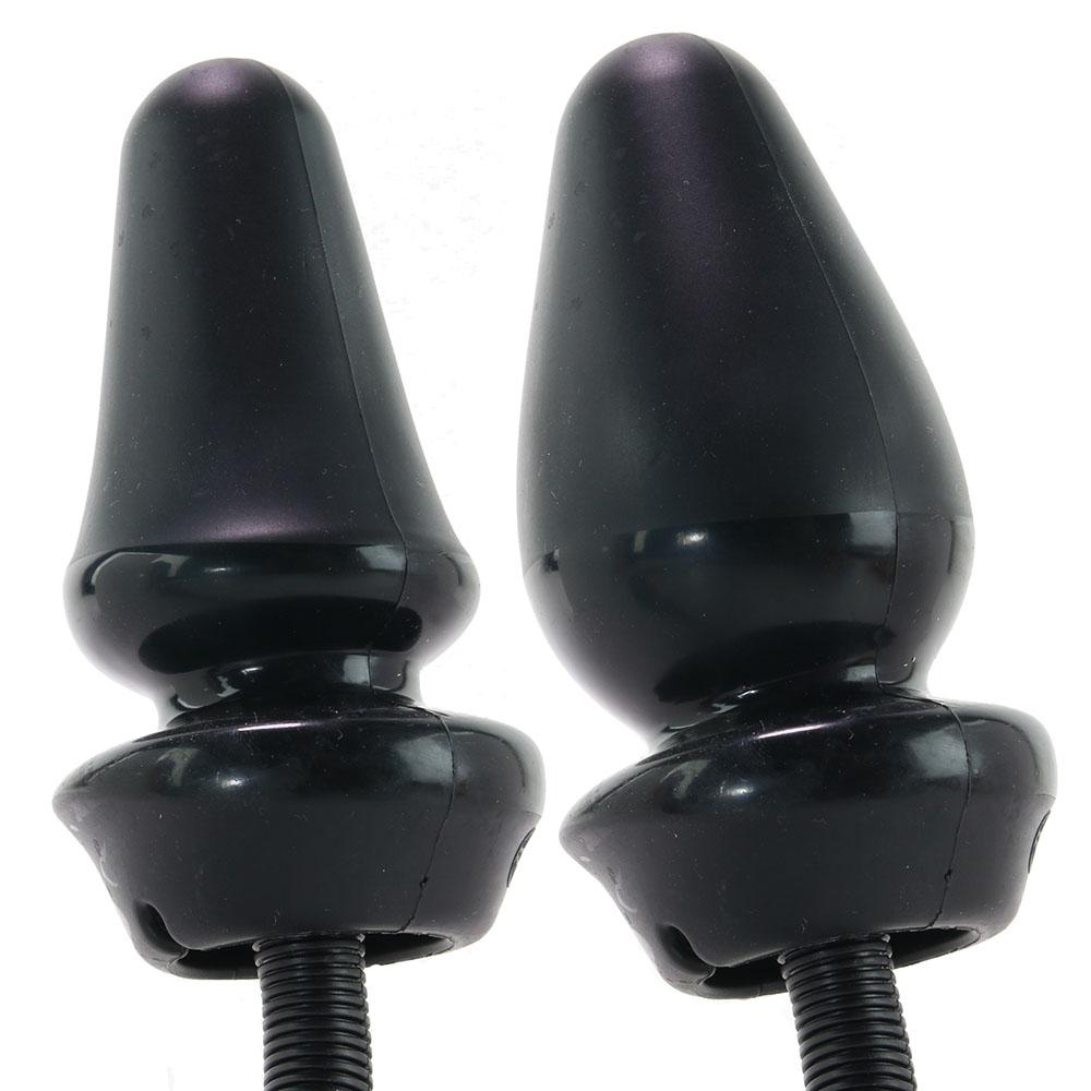 Anal Fantasy Inflatable Silicone Anal Plug in Black