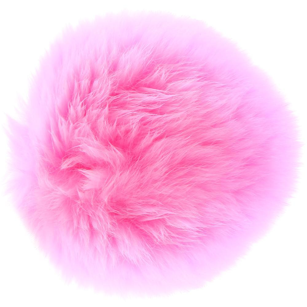Flora Medium Pink Pom Pom Plug in Gold