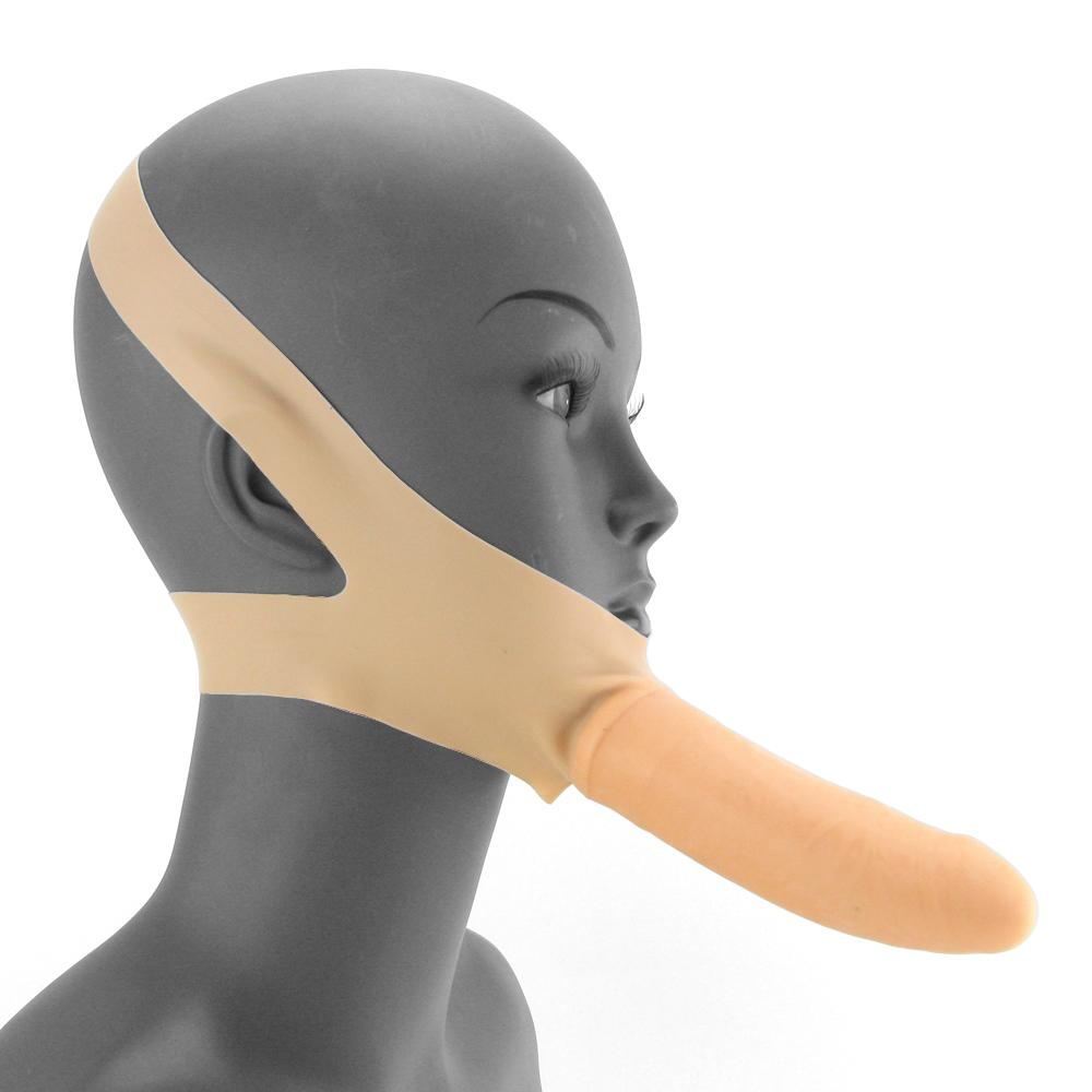 Accommodator Chin Strap-On Dildo
