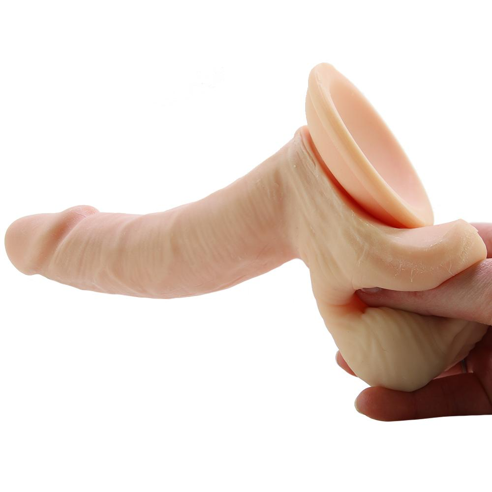 "Emperor 6"" Ballsy Suction Dildo in Ivory"